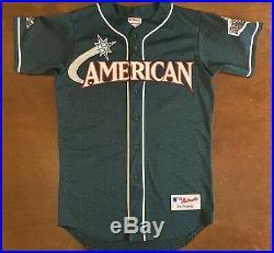 Rare Vintage Majestic 2001 MLB All Star Game New York Yankees Derek Jeter Jersey
