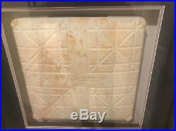 Rare custom framed authentic game used base Yankees vs Red Sox