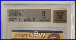 SUPER RARE DEREK JETER 1992 FRONT ROW DRAFT PICKS AUTOGRAPHS #6 BGS 9 With 10 AUTO