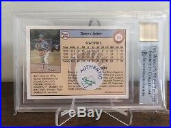 SUPER RARE DEREK JETER 1992 FRONT ROW DRAFT PICKS AUTOGRAPHS #6 BGS 9 With 10 AUTO