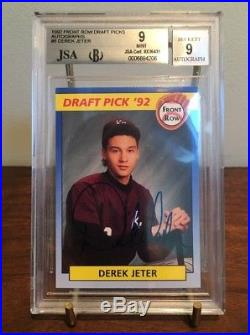 Super Rare Derek Jeter 1992 Front Row Draft Picks Autograph /5500 Bgs 9 Auto