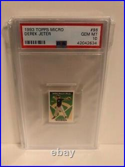 The Holy Grail! 1993 Topps Set Of 5 Derek Jeter Rc Rookie Card All Psa 10 Rare