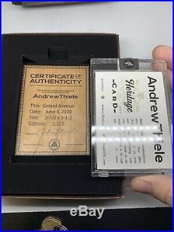 Topps Project 2020 Andrew Thiele Companion Auto NY Heritage /2222 +COA Rare