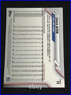 ULTRA RARE 2020 Topps Chrome Derek Jeter #50 SSP Variation Refractor YankeeS