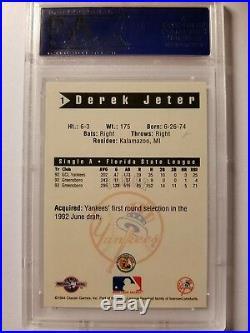 VERY RARE 1994 Classic Games #1 Derek Jeter PSA 10 GEM MINT ROOKIE BB Card