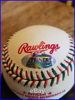 Very Nice Rare Christmas Editon Derek Jeter Autographed Baseball Steiner Sweett