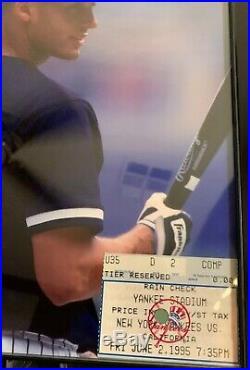 Very RARE Derek Jeter 1995 Yankee Stadium Debut Ticket Stub