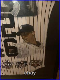 Very Rare New York Yankees Core 4 Signed Jersey. Jeter, Posada, Rivera, Pettitte