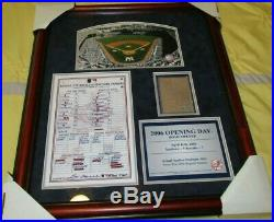 Yankee Stadium Plaque opening day Game used dirt rare Steiner 2006 NY Yankees